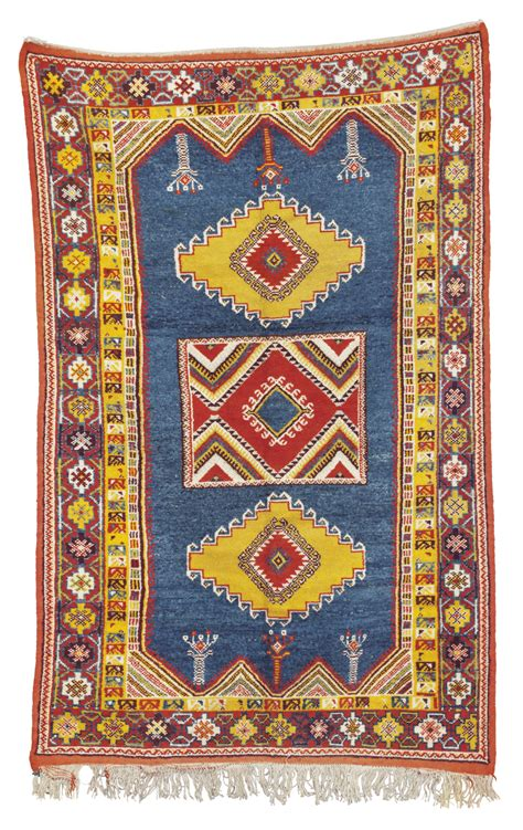 7 ft rug a moroccan rug 7 ft x 4 ft christie s a moroccan rug 7
