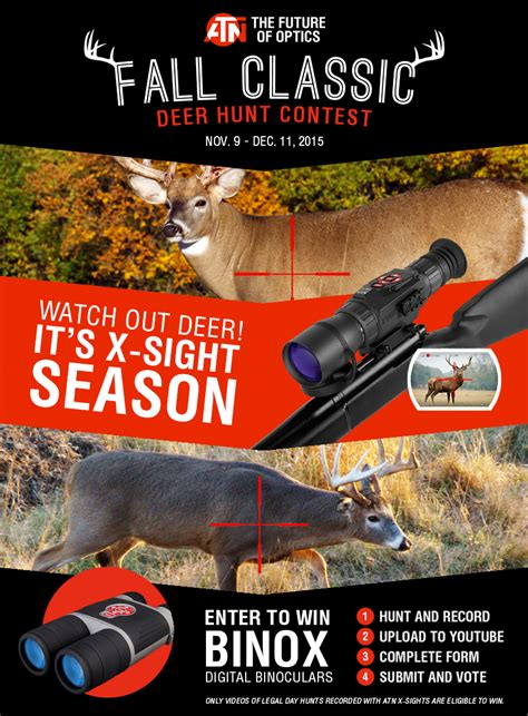 Deer Hunting Sweepstakes - share your hunting video for a chance to win atn smart hd optic products survival