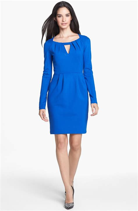 ponte knit dresses connection ponte knit sheath dress in blue