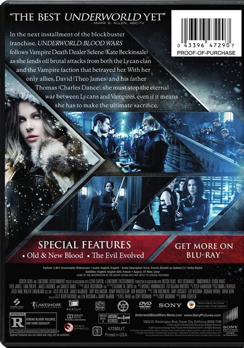 download film underworld blu ray underworld blood wars dvd cover back screen connections