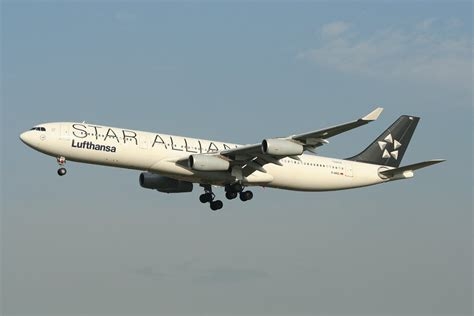 emirates star alliance lufthansa star alliance a340 300 in frankfurt am 21 11 09