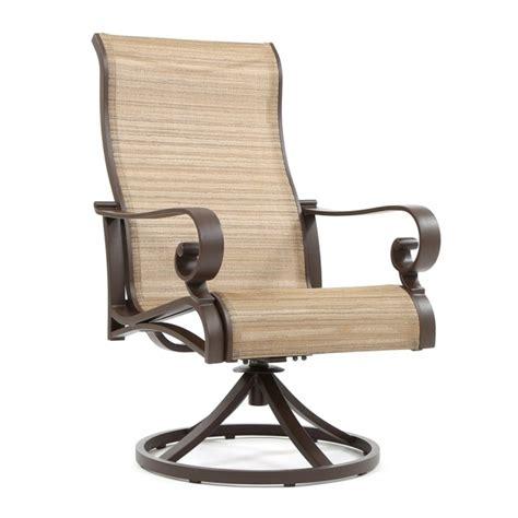 High Back Sling Patio Chairs High Back Swivel Patio Chairs Outdoor Outdoor Furniture Patio Sets Shop At Hayneedle Woodard