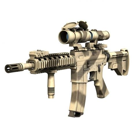 Aimpoint Camo 3d model colt m4a1 sopmod aimpoint desert camo cgtrader