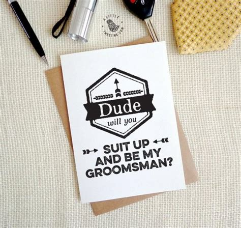 printable groomsman invitation groomsman invitations will you be my groomsman dude will