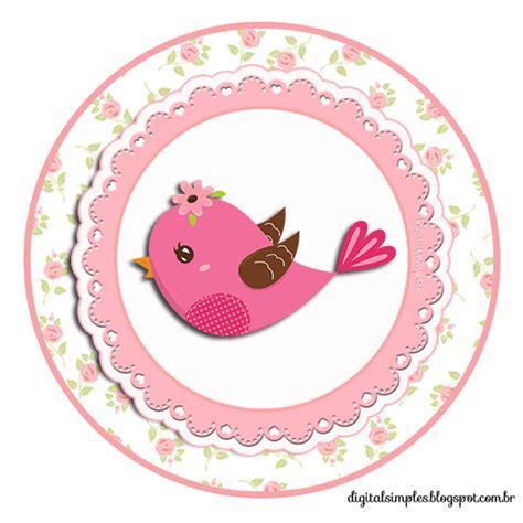 kit de personalizados tema quot passarinhos quot para meninas para