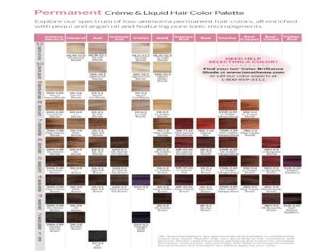 ion brilliance hair color chart ion color brilliance liquid hair color chart hair loss