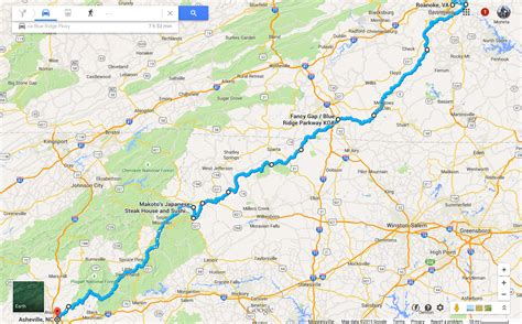 map of blue ridge parkway three country tour on an electric motorcycle blue ridge