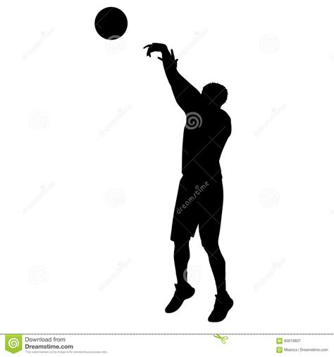 basketball jump shot silhouette www imgkid com the