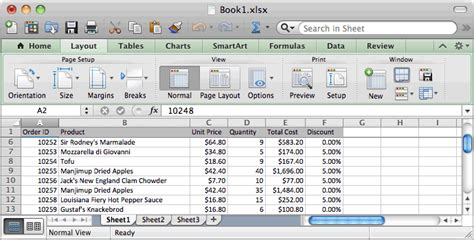 layout excel mac ms excel 2011 for mac freeze top row