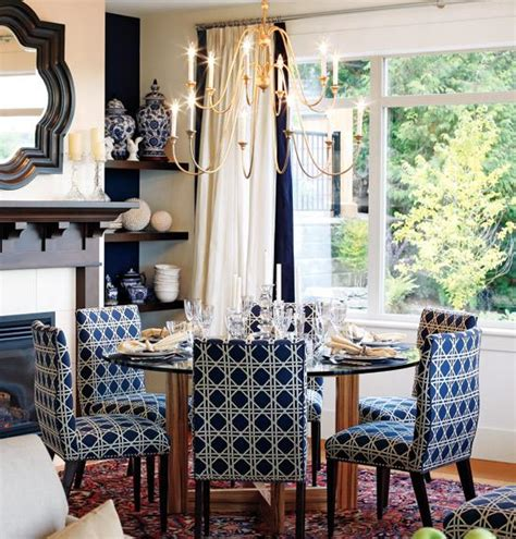 sarah richardson dining room navy blue dining chairs cottage dining room sarah