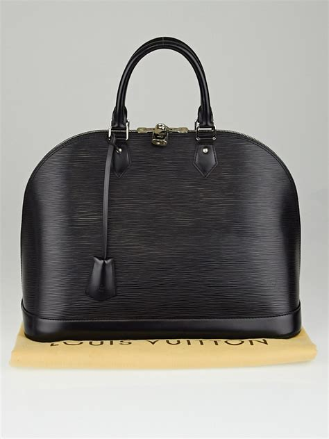 Jual Tas Lv Alma Epi Leather Black With Box Mirror Quality 1 louis vuitton black epi leather alma gm bag yoogi s closet
