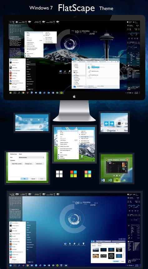 themes for windows 7 deviantart flatscape theme for windows 7 by oafishbub on deviantart