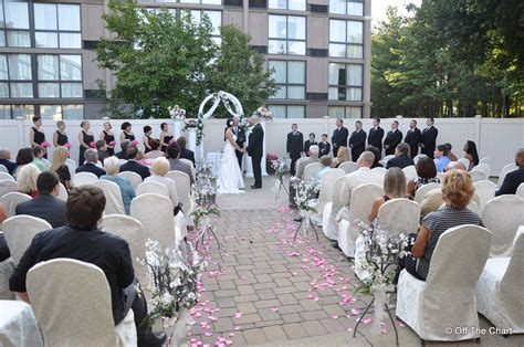 wedding receptions in toms river nj outdoor ceremony area at the inn of toms river nj