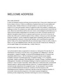 welcome speech image gallery welcome address