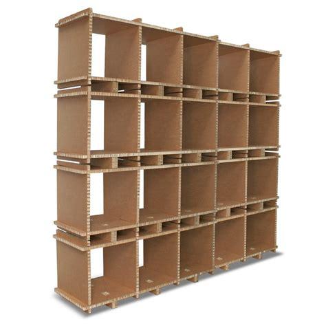 librerie in cartone libreria in cartone multi box 5 mod avana a 4 ripiani
