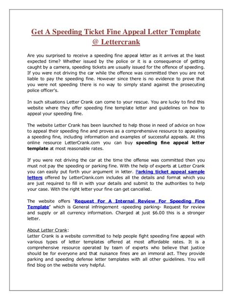Letter Template Appeal A Parking sle letter to contest parking ticket sle appeal