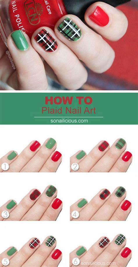xmas nail art tutorial 20 easy simple christmas nail art tutorials for