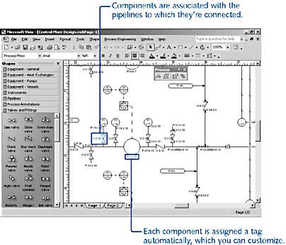 visio plumbing shapes using the process engineering solution microsoft visio