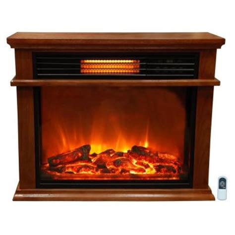 Lifesmart Fireplace by Lifesmart Easy Set 31 In Infrared Electric Fireplace In Golden Oak Ls2003frp13 In The Home Depot