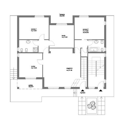 Pianta Casa Bifamiliare by Pianta P Rialzato Villa Bifamiliare 242 Architetto