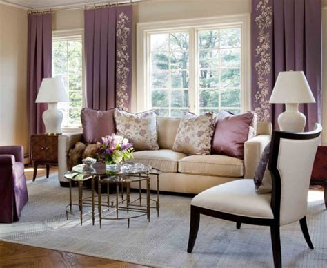 purple and beige living room decor your living room with purple hues