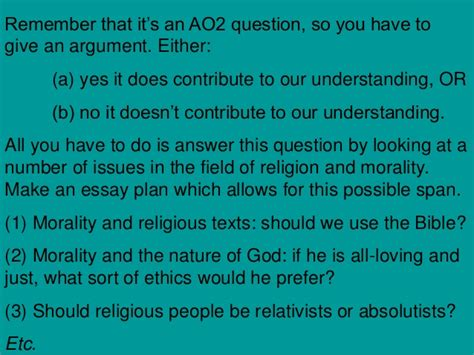 Religion And Morality Essay by Revision Situation Ethics