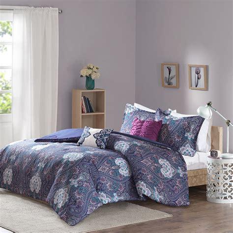 beautiful comforters beautiful modern tropical purple blue bohemian global