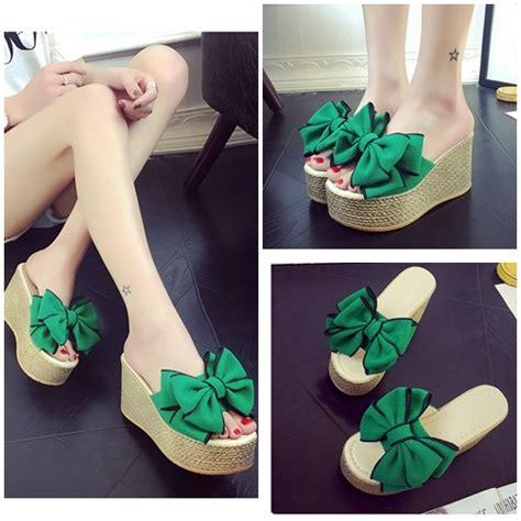 Sepatu Wedges 9cm jual shw02 green sepatu wedges pita import 9cm