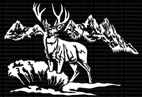 Mossy Oak Home Decor by Mountain Mulie Mule Deer Hunting Window Decal