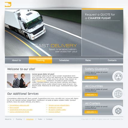 transportation templates transportation html website template best website templates