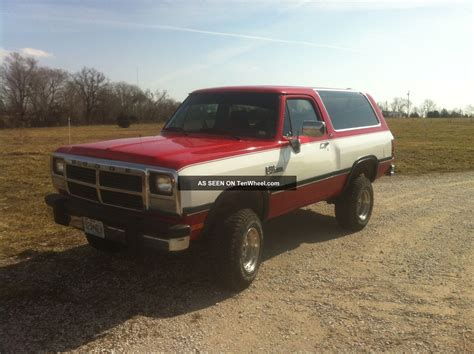 charger trucks 1991 dodge ramcharger 4x4 truck