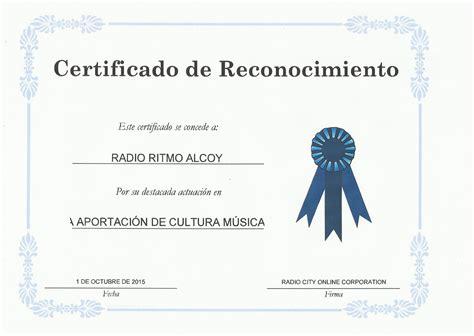 formato de certificado de reconocimiento gratis mejor apexwallpapers formatos reconocimiento para editar radio ritmo alcoy