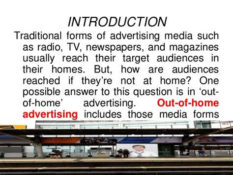 introduction to out of home advertising media