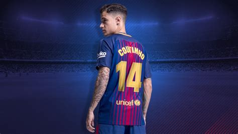 barcelona coutinho official coutinho given no 14 shirt for barca besoccer