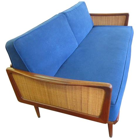 sofa bed france sofa bed by peter hvidt and olga m 248 lgaard in teak and cane