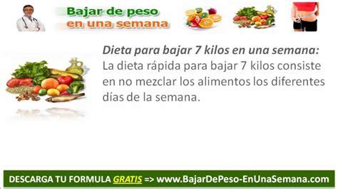 vietas para una crisis como bajar de peso en una semana dieta de 7 dias para bajar de peso youtube