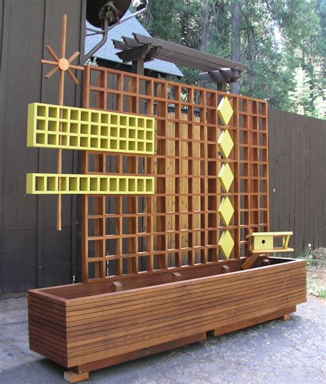 Outdoor Trellis Screens Mid Century Modern Marque Privacy Screen Or Trellis 95 00 A