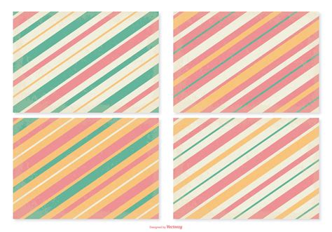 vector pattern set retro striped pattern set download free vector art
