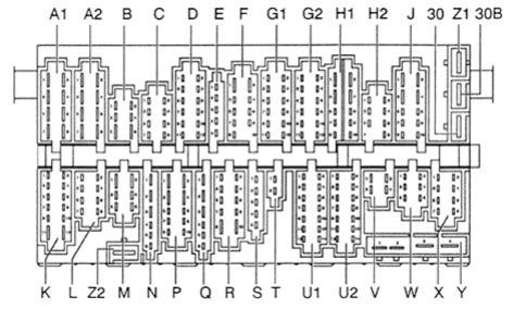 volkswagen passat    fuse box diagram