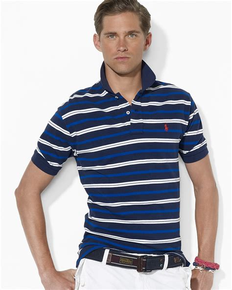 Striped Ribbed 1 2 Sleeved polo ralph classic fit sleeved multi striped