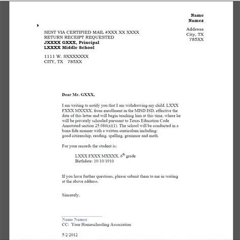 notification letter arroyo institute