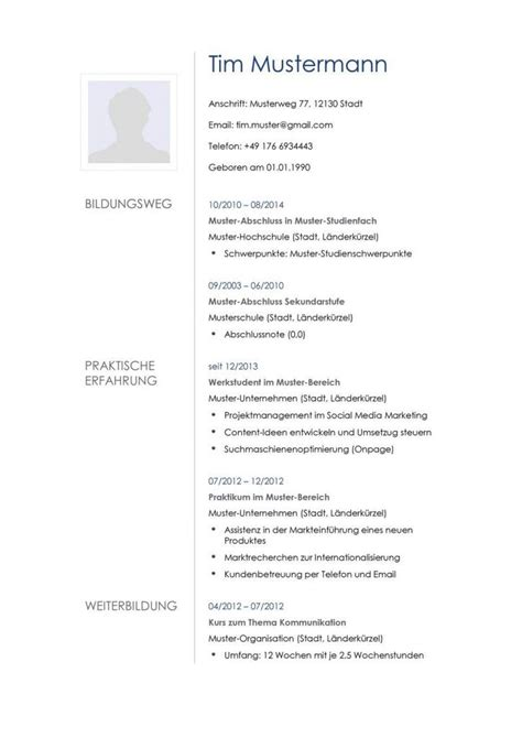 Moderner Lebenslauf Muster 31 Best Images About Lebenslauf Vorlagen Muster On Free Cv Template Classic And A