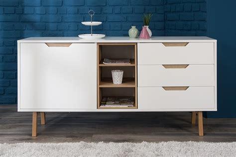 schreibtische nordisches design design sideboard stockholm 150cm weiss eiche massivholz