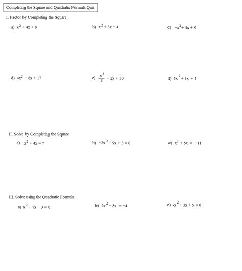 Quadratic Formula Worksheet With Answers by 100 Quadratic Equations Worksheet With Answers