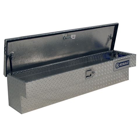 truck bed tool chest kobalt aluminum universal truck tool box storage crossover