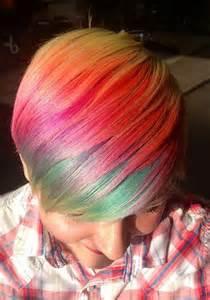 faded colour hairstyles rainbow hair strayhair