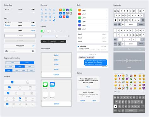 layout guides ios 9 ios 9 iphone gui facebook design