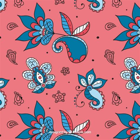 pattern batik elegant elegant hand drawn batik floral pattern vector free download