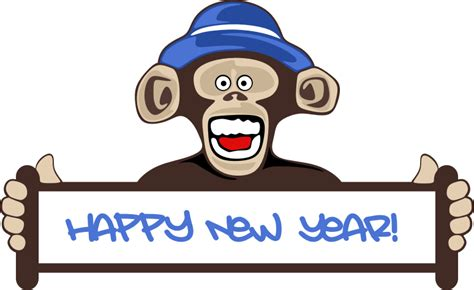new year clipart monkey clipart happy new year monkey