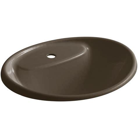 home depot drop in bathroom sinks kohler tides drop in cast iron bathroom sink in suede with